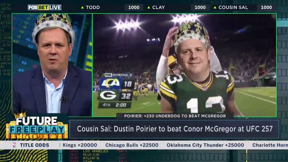 Two weeks in a row for @TheCousinSal! He takes home the 👑  as the King of the Week!