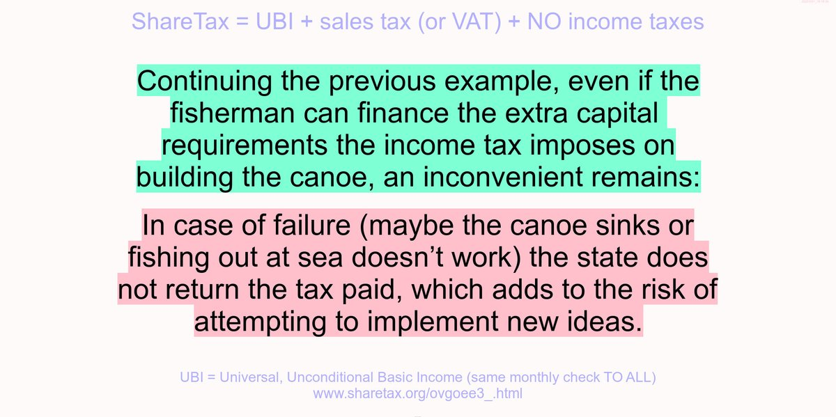 Example shows the significant risk transfer from #state to economy induced by the income tax.  #UBI #business