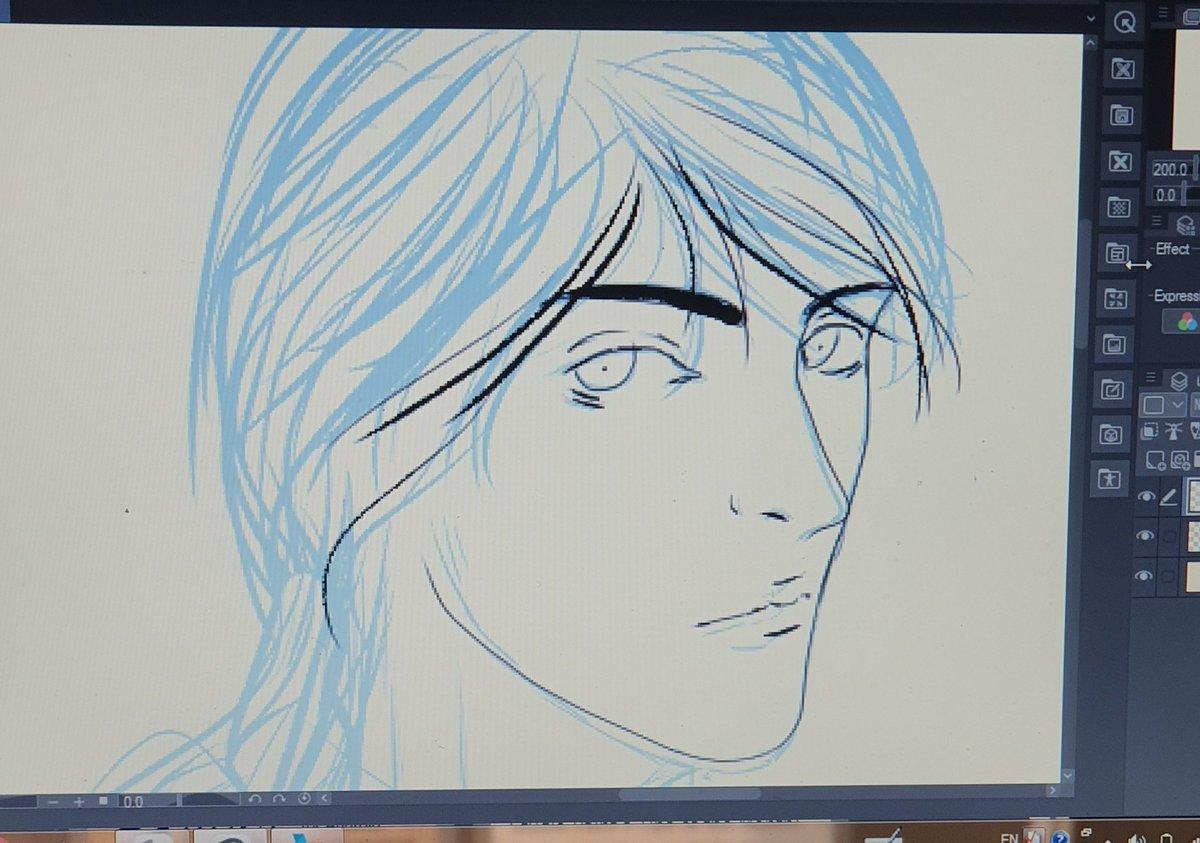 #wip I'm working on it right now  #drawing #doodle #artist #japan #manga #anime #كلنا_رسامين #رسمتي #فن   #تغريده_بخاطركم