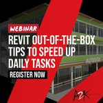 Image for the Tweet beginning: FREE WEBINAR: Revit out-of-the-box Tips