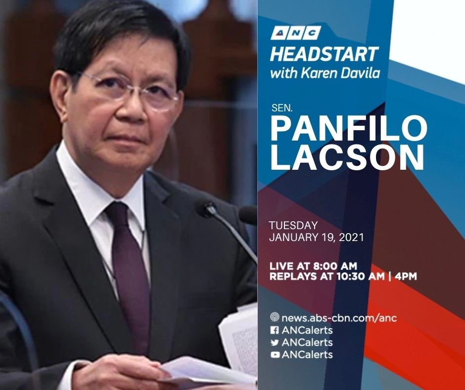 Sen Panfilo Lacson on Sinovac's vaccine prices, calls for transparency....  And the University of the Philippines on government allowing military to enter UP campuses at anytime to prevent alleged communist recruitment  #ANCHeadstart 8-9am on @ANCALERTS
