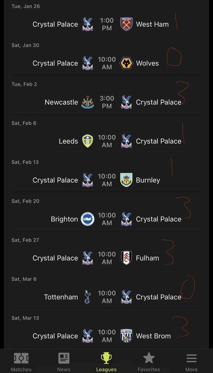 Need 3 vs. West Ham greatly. Can further separate from bottom half. Winnable games in February before a tough stretch March-April. Leeds/Wolves could be W's. Predictions below: 👇👇👇 #CPFC