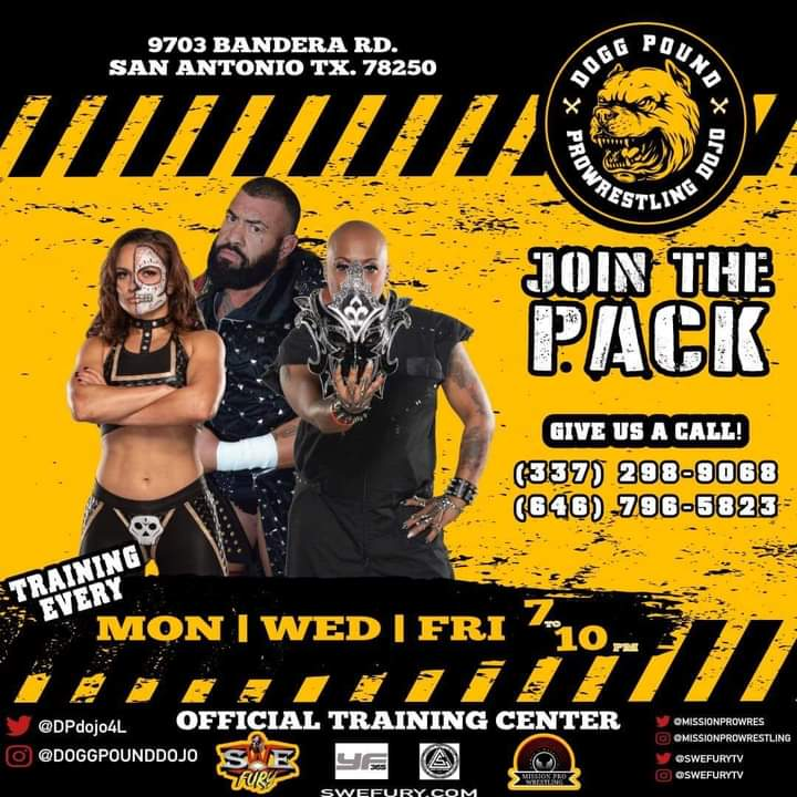 Every Monday, Wednesday, and Friday!@DoggPoundDojo #SanAntonio #WomensWrestling #fitness #AEW #leonvalleytx #FitnessMotivation #workout