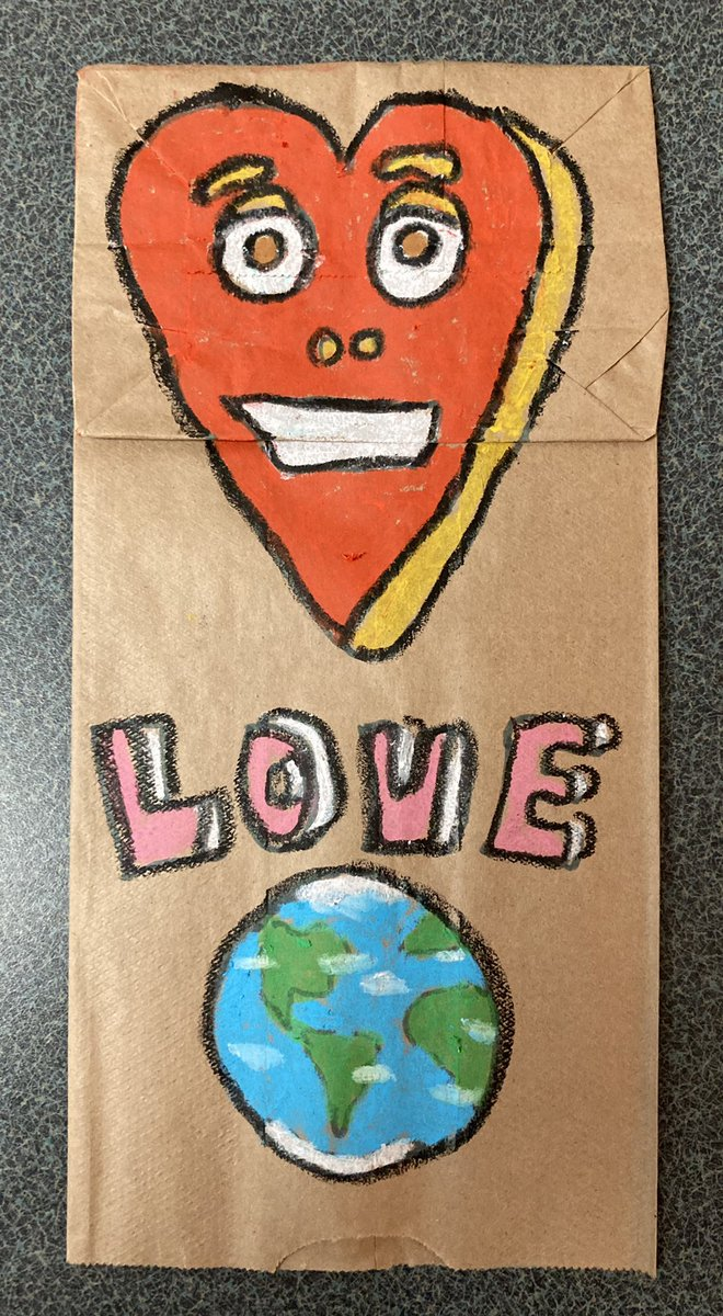 Use some Art to share some love in this world! #Art #Love #Pastels #Puppet #Drawing #Creating #Sharing #World #Paper #Crafts #Smile #Happy