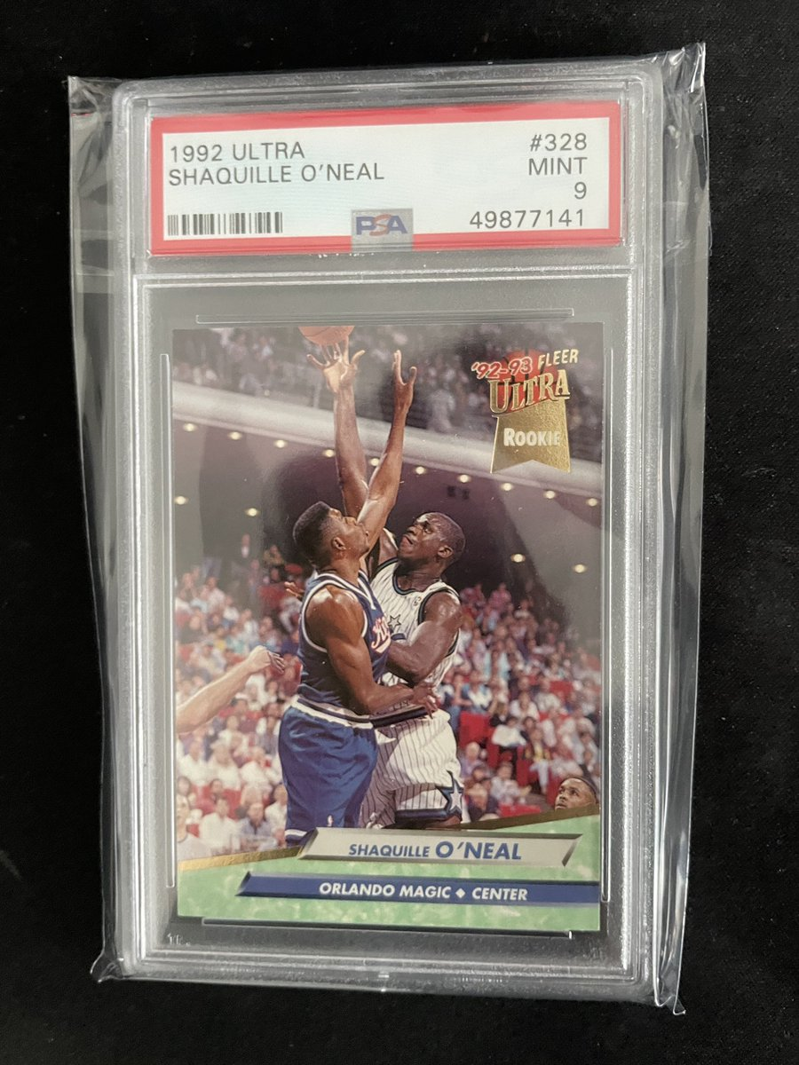 Selling my Shaq 1992 fleer ultra rookie card! PSA 9 for $100. This is a great card to invest in as he's a hall of famer top 15 player. This card is super undervalued right now! #basketballcards #psa9 #cards #tradingcards #SportsCards #investing #finance