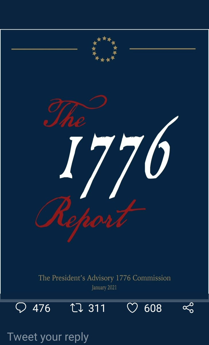 The 1776 b.s. propaganda put out by the WH today is absolutely disgusting! 2 days before the inauguration AND on #MLKDay Clearly intentional and NOT a coincidence!