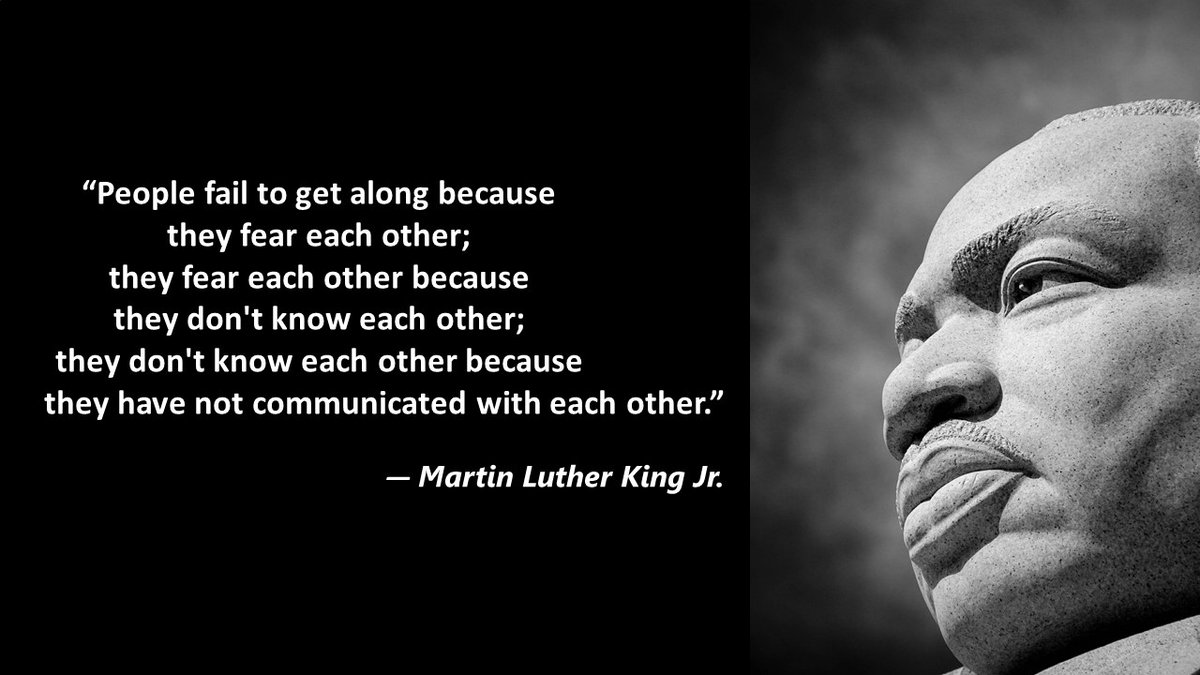 As we begin this week of transition in our country, let's take time to face our fears, know each other, communicate with each other and create space to live in peace. #mlkday #diversity #inclusion #leadership #diversitydualities