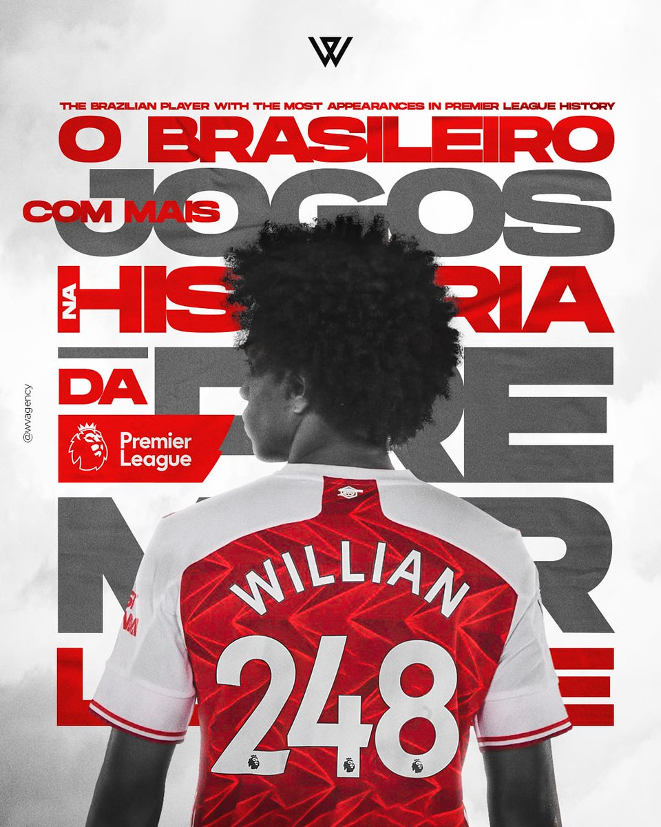 I'm very proud to become the brazilian player with the most matches in Premier League history. 🙏 #premierleague #248matches #thanksgod #arsenalfc