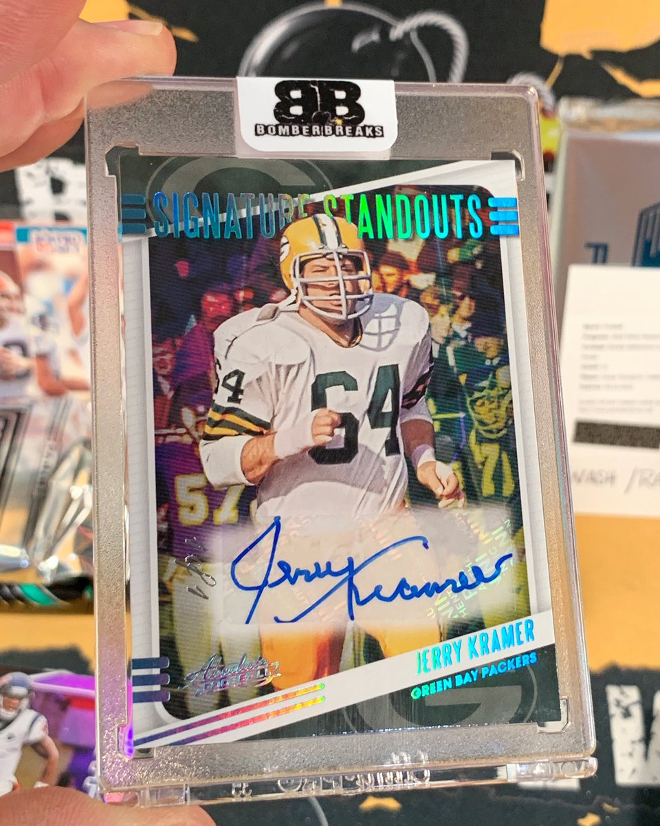 Old School 1/1 Jerry Kramer Signature Standouts Auto pulled in our NFL Mixer from @paniniamerica Absolute Football!  💣💥🔥  #boom #follow #whodoyoucollect #football #autograph #nfl #greenbay #1of1 #packers #thehobby #groupbreaks