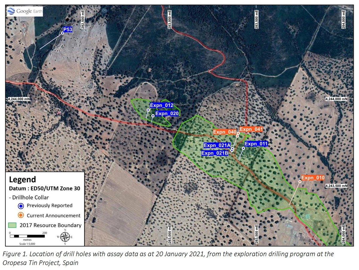 #ASX announcement: Oropesa #Tin Project - drilling progress report  $ELT #ASX #mining #metals #investing #smallcaps