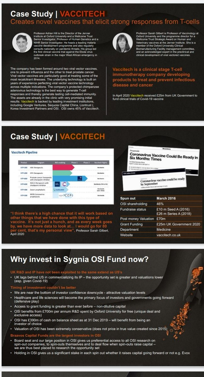 £25m of Government Money....#SarahGilbert & the Money Making Machine that is #OxfordUniversity & #Vaccitech !! 👇👇👇 #OxfordSciences #AdrianHill #Vaccines #SpinOuts #VentureCapital #FundManagers #MorganStanley #Investing #Offshore #Investments