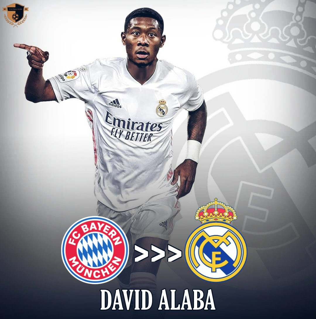 📣OFFICIAL:  Real Madrid have reached an agreement to sign David Alaba from Bayern @marca ✍️✍️.  He will join the Spanish Giants in the next summer as a free agent🏹  #davidalaba #alaba #LaLiga #Bundesliga #realmadrid #BayernMunich  #football #transfers  #football #news