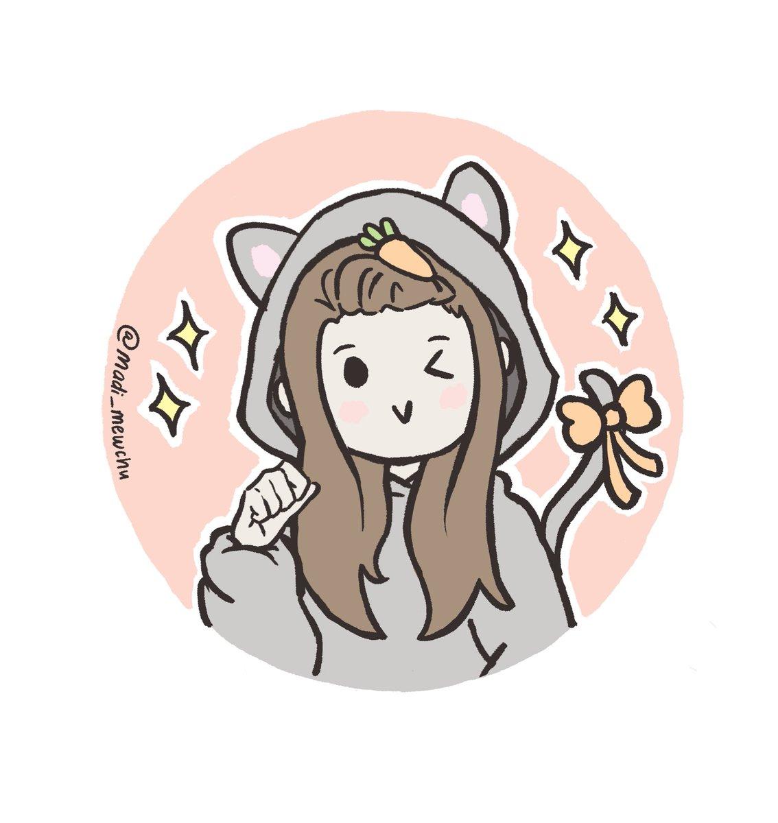 Just @TeanaKitten in a kitten onesie! ✨ sheesh it's just too cute with the carrot hair clip! #tinakitten #fanart #cute #drawing #illustration