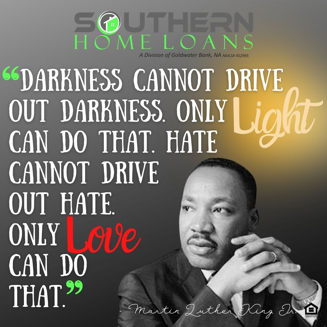 Darkness cannot drive out darkness. Only light can do that. Hate cannot drive out hate. Only love can do that. - Martin Luther King Jr. #mlk #mlkday #shl4