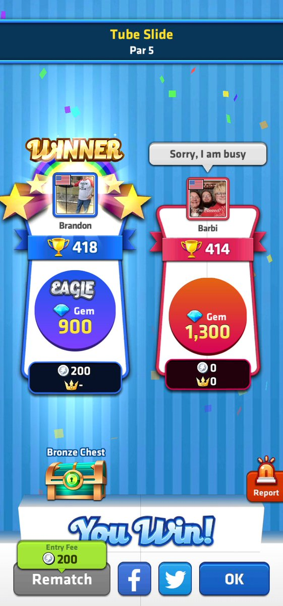 Victory is mine today! Challenge me now! [] #MiniGolfKing #Golf #Victory