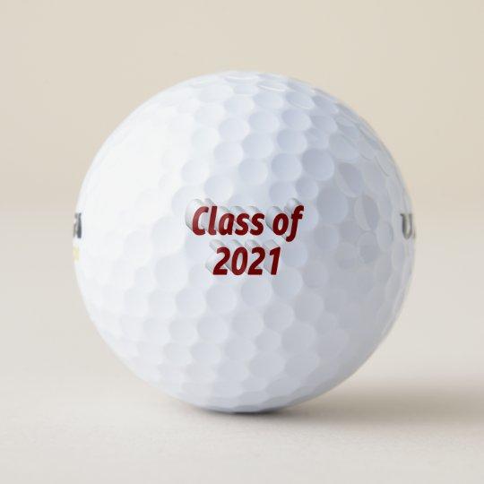 Burgundy 3D #Classof202 Graduation #Golf Balls  via @zazzle