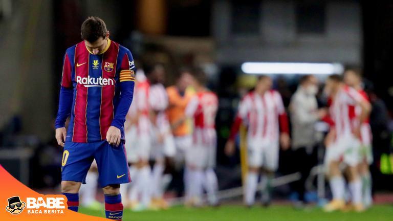 Lionel Messi Dapat Kartu Merah Pertama dalam Karier Klubnya karena Menampar Pemain Lawan, Dia Terancam Sanksi Tambahan #Argentina #LionelMessi #ballondor #PialaSuperSpanyol #FC Barcelona