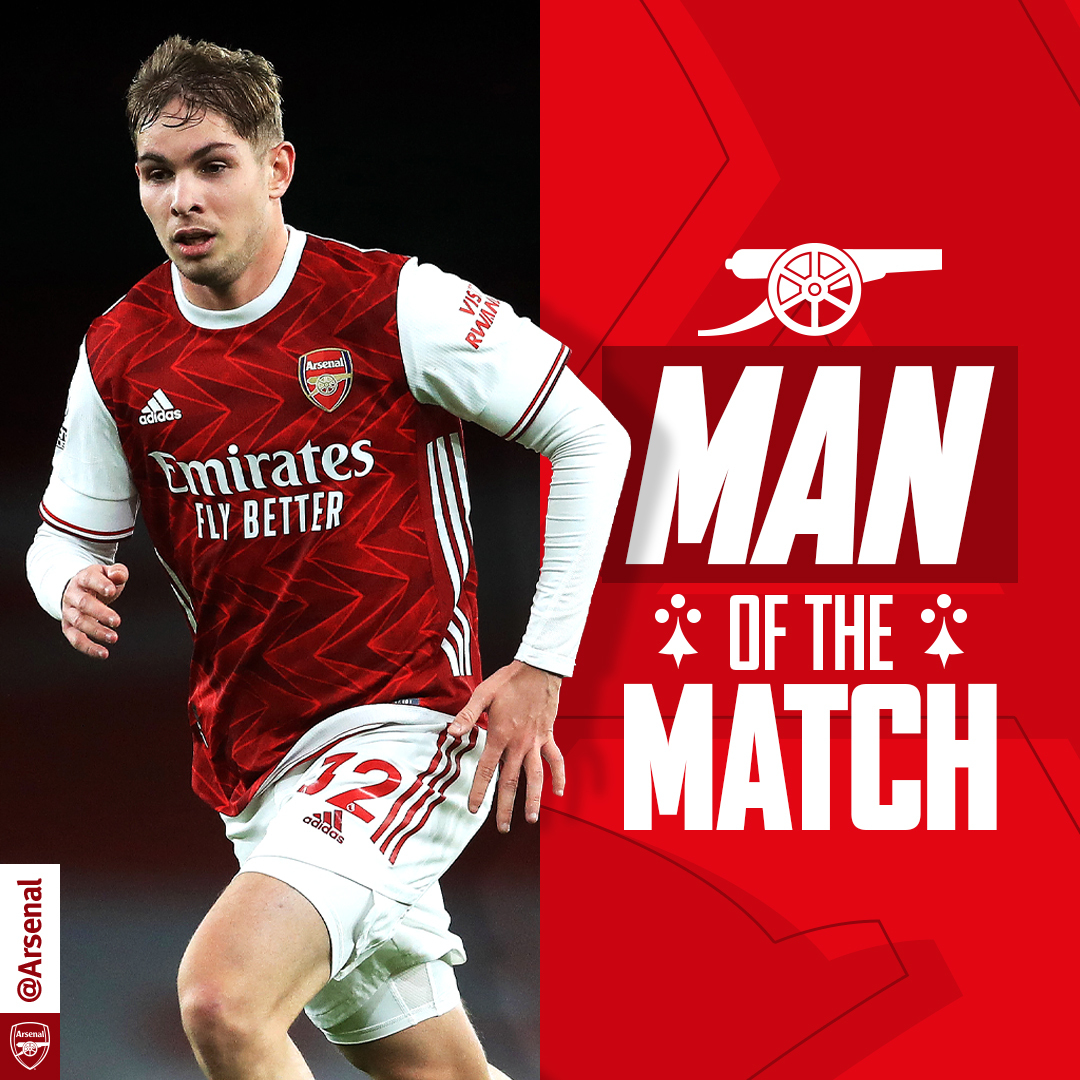 Man of the match last night in #ARSNEW? 💭  You chose @EmileSmithRowe 🏆