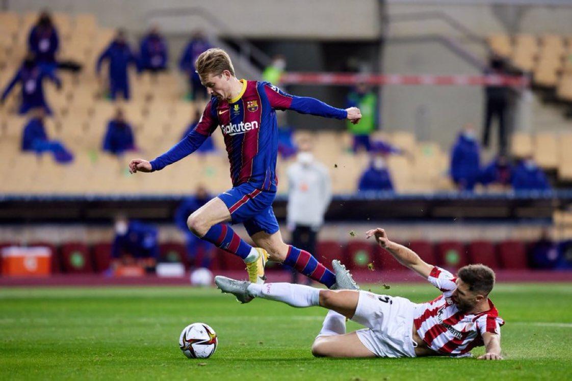#Deportes EnSuperCopa🏆   ⏰ Final de la primera mitad de la prórroga ⚽ #SupercopaBarça (2-3) #EnVivo por