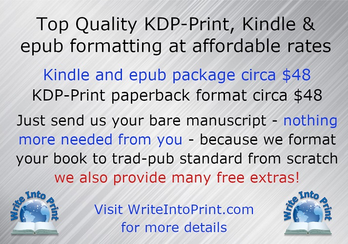 #Authors:  @WriteIntoPrint will format your novel to trad-pub standard before converting to Kindle ePub & KDP-Print paperback PLUS much more!  ➡    #amwriting #editing #amquerying #writingcommunity #writerscommunity #pubtip #asmsg #iartg #publishing