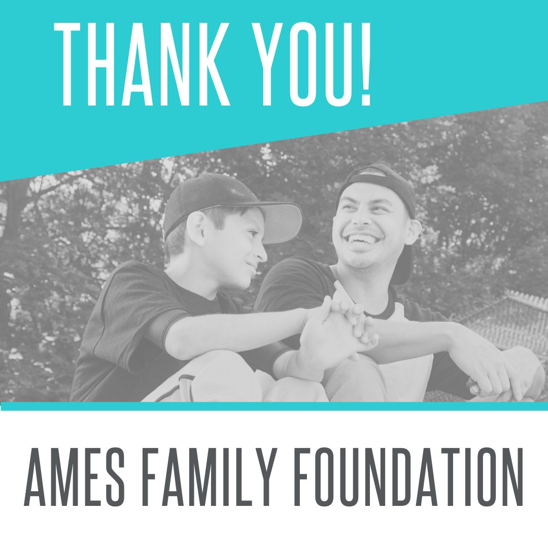 A BIG thank you to The Ames Family Foundation who have donated and supported our Community Mentors! #charity #giving #thankyou
