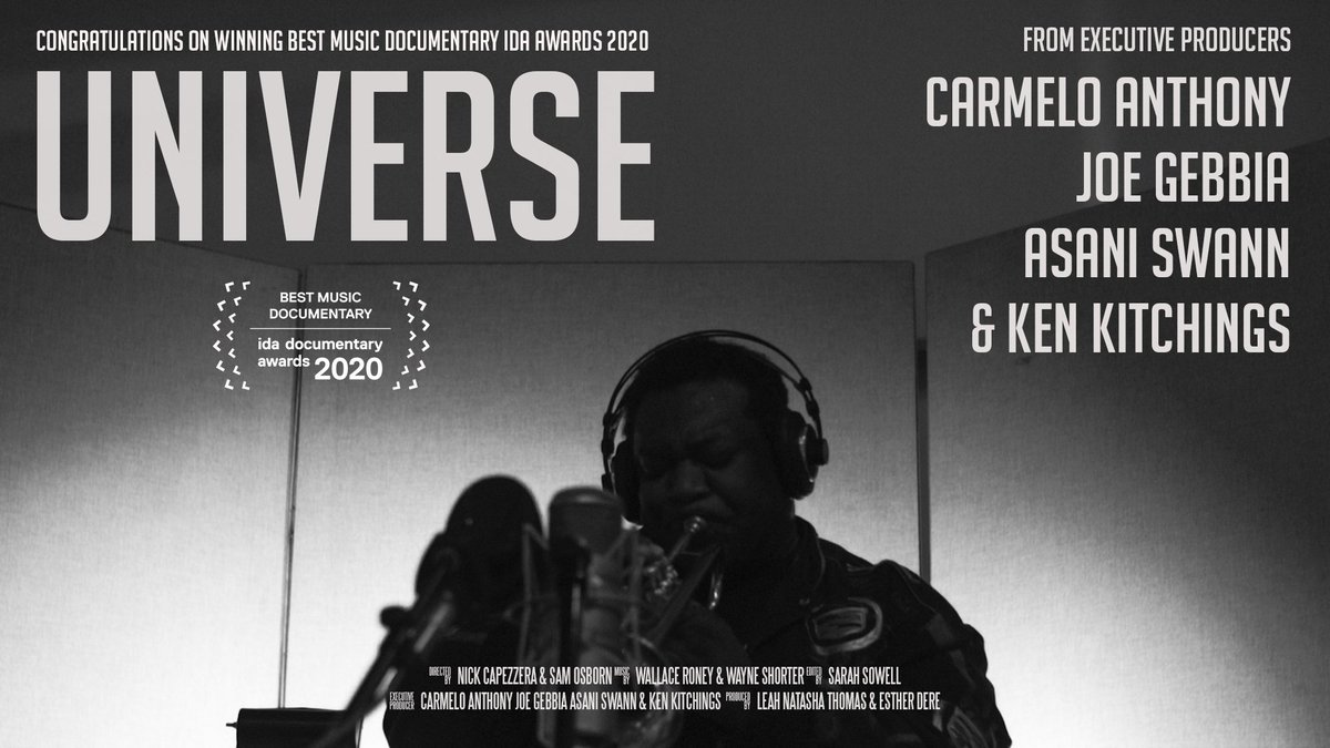 "Excited to share that ""Universe"" won Best Music Documentary at IDA awards. Congrats to @jgebbia and the entire te on the win!"