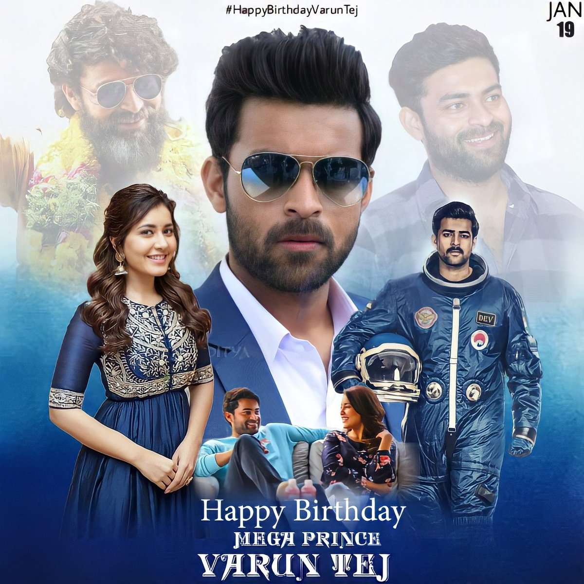 Happy Birthday @IAmVarunTej  Have Great Great This Year Anna You Have more than Entertainment film's Enjoy the All  💐💐💐💐💐💐🎂🎂🎂🎂🥳🥳 Wish from Gorgeous girl @RaashiKhanna & @RaashiPage  #RaashiKhanna #IAmvaruntej #birthday #Celebration