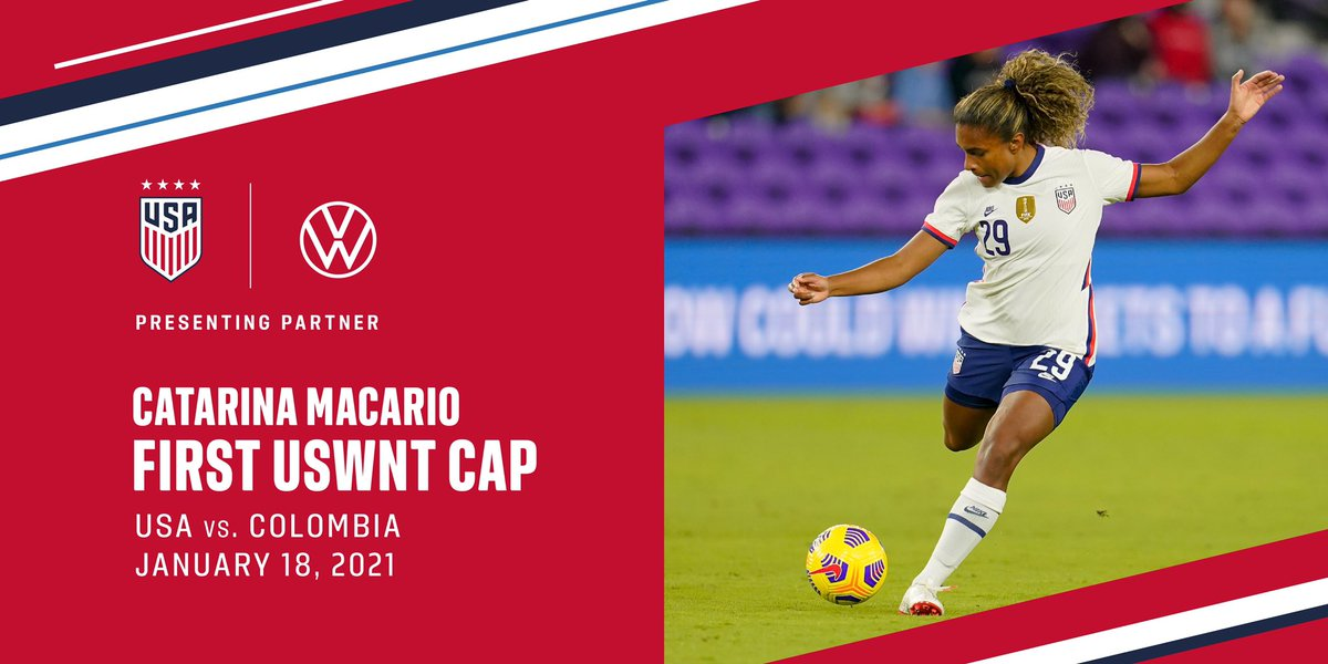 What a journey it's been! Congrats to @catarinamacario on her first cap with the #USWNT 🇺🇸