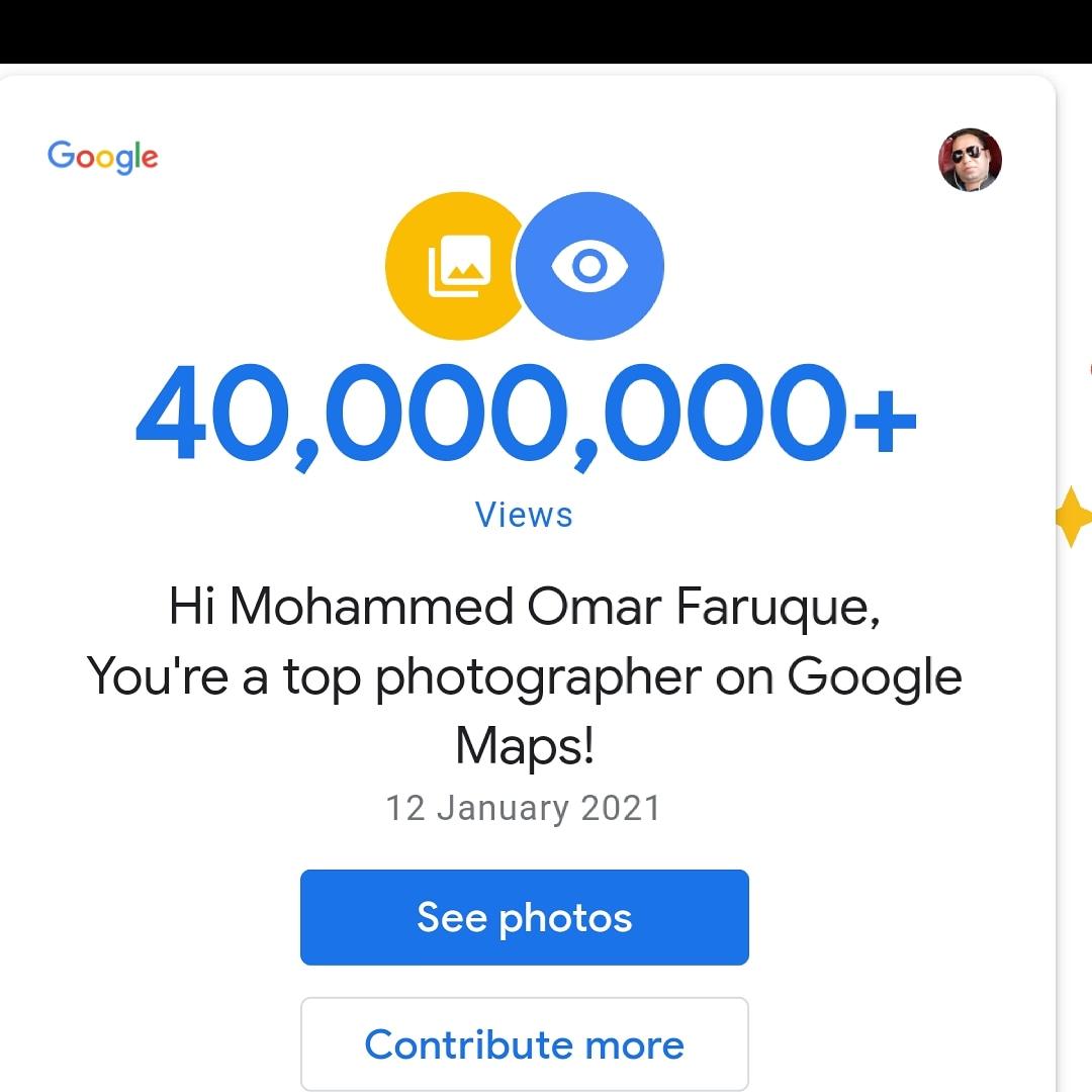 40,000,000+ Photo Views On Google Maps and I'm a Top Photographer on Google Maps! #TopPhotographer #TopPhotos #LocalGuidesConnect #GoogleLocalGuides #LetsGuide #OnGoogleMaps #Google #Maps #Photography #StreetView #GoogleStreetView #Bangladesh #Achievement #Cumilla @localguides https://t.co/iyI2c1ghRX