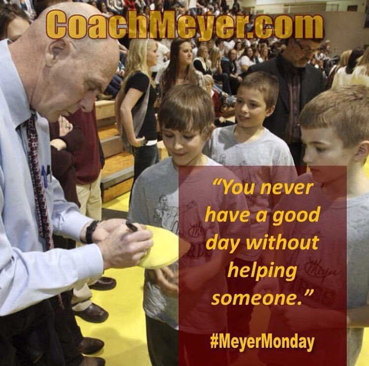 What a great life philosophy to have — @CoachDonMeyer certainly lived it! #MeyerMonday