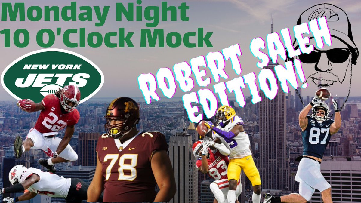 Tonight we will try to gauge how much Impact Robert Saleh will have on the @nyjets draft! Is Sam good enough? Is Wilson to perfect to pass?  Is D more of a priority?  YouTube/GreenBean Jetsfan! https://t.co/oVuXKR4AuA