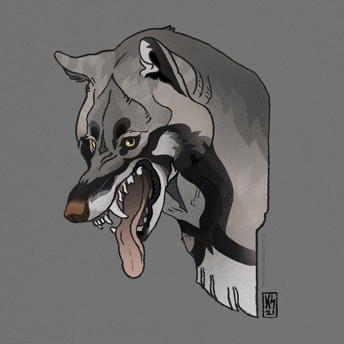 Fun little #wolvden trade with Kalseah on DeviantArt!