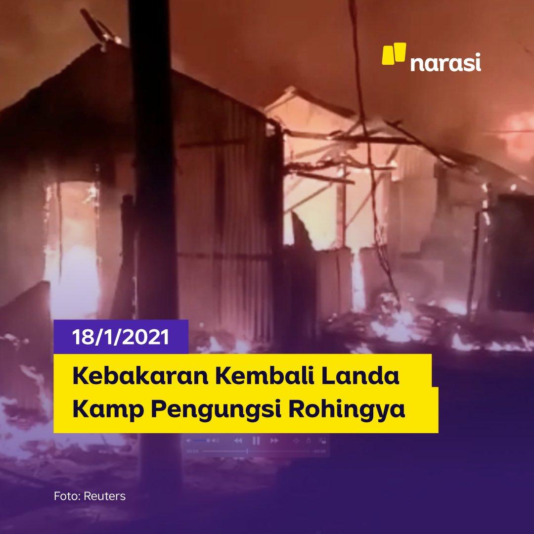 Senin (18/1/2021), kebakaran besar kedua melanda Blok B kamp pengungsi Rohingya Cox Bazar di Bangladesh Selatan. Kebakaran pertama terjadi hanya selisih 4 hari, yakni pada Kamis (14/1). Api juga menghancurkan lebih dari 550 rumah, 150 toko, & fasilitas milik organisasi nirlaba. https://t.co/ppL5Swfpak