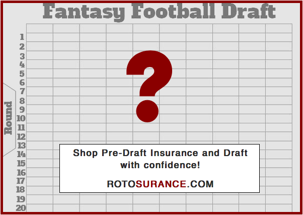 DRAFT WITH CONFIDENCE! Knowing that you have insurance coverage on your 1st, 2nd, or 3rd round draft pick this season! . Come shop our Pre-draft insurance today at  . #FantasyFootball #Insurance