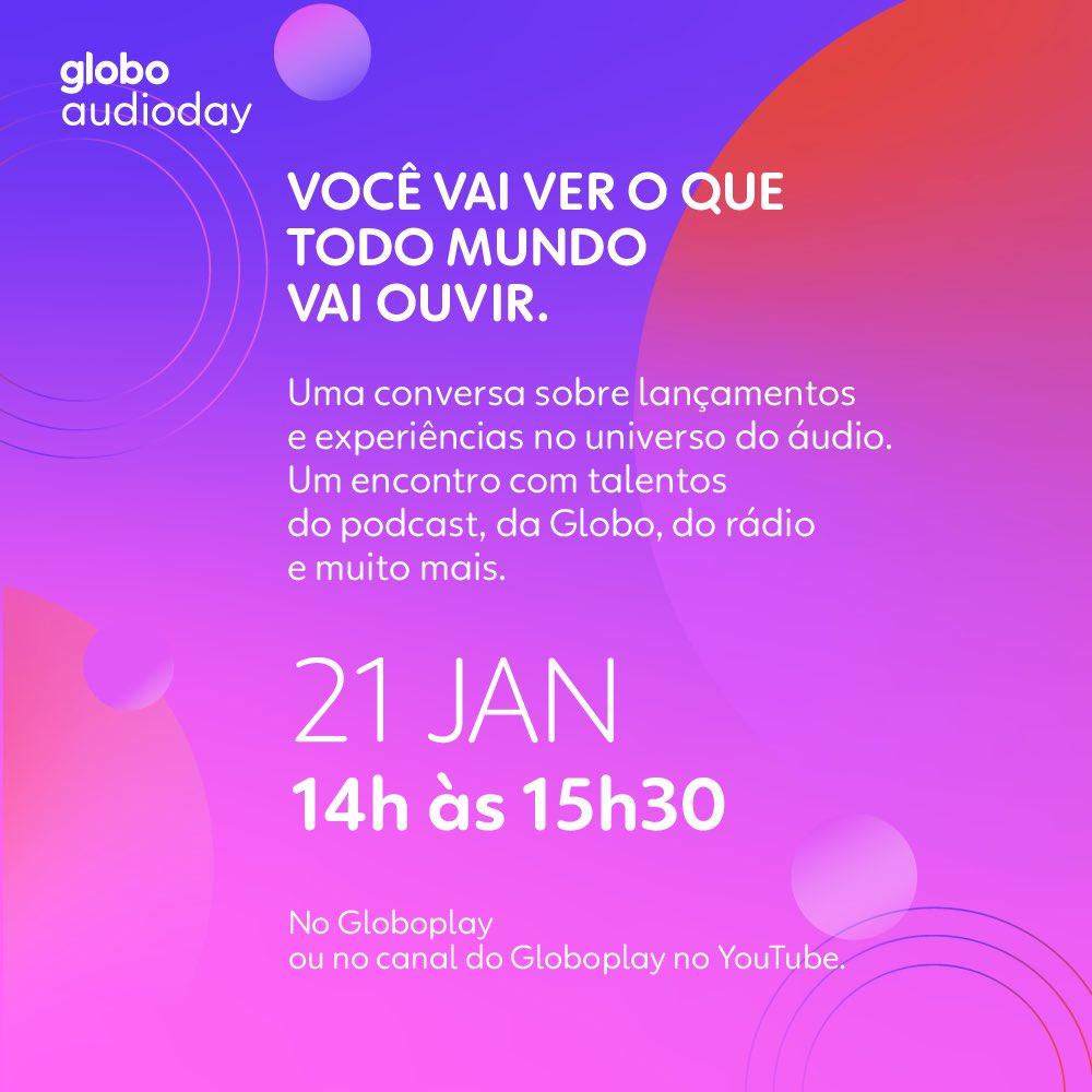 Já to com meus 🎧 preparados pra acompanhar a transmissão do #AudiodayGlobo!