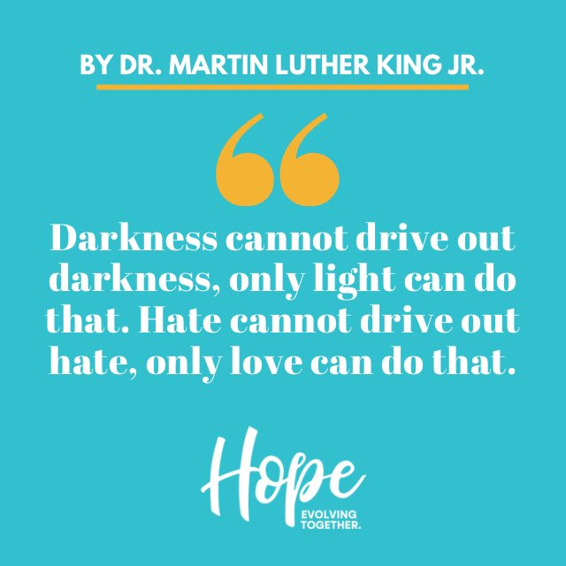 We would like to take a moment to celebrate Martin Luther King Jr. Day. Let's spread love to one another. 🥰 #MLKDay