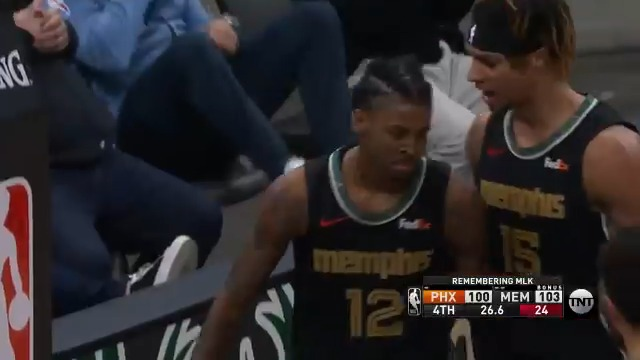 Ja Morant making clutch plays on both sides of the ball https://t.co/FrykYkoPD7