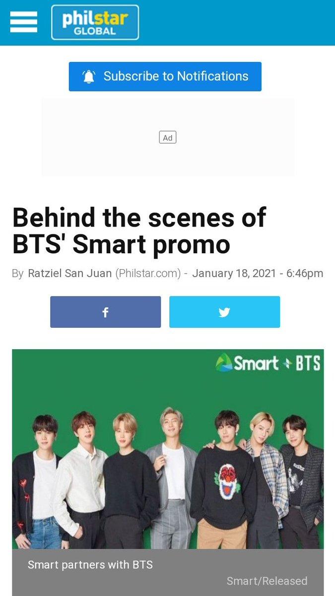 INFO | Segundo a Philstar, o #BTS (@BTS_twt) já filmou o comercial para a SMART, em Seul!   As filmagens duraram cerca de 9 horas!     🖇️https://t.co/X90XtJb00s  _ ©BTS_History613 https://t.co/GyTvAtqNGb