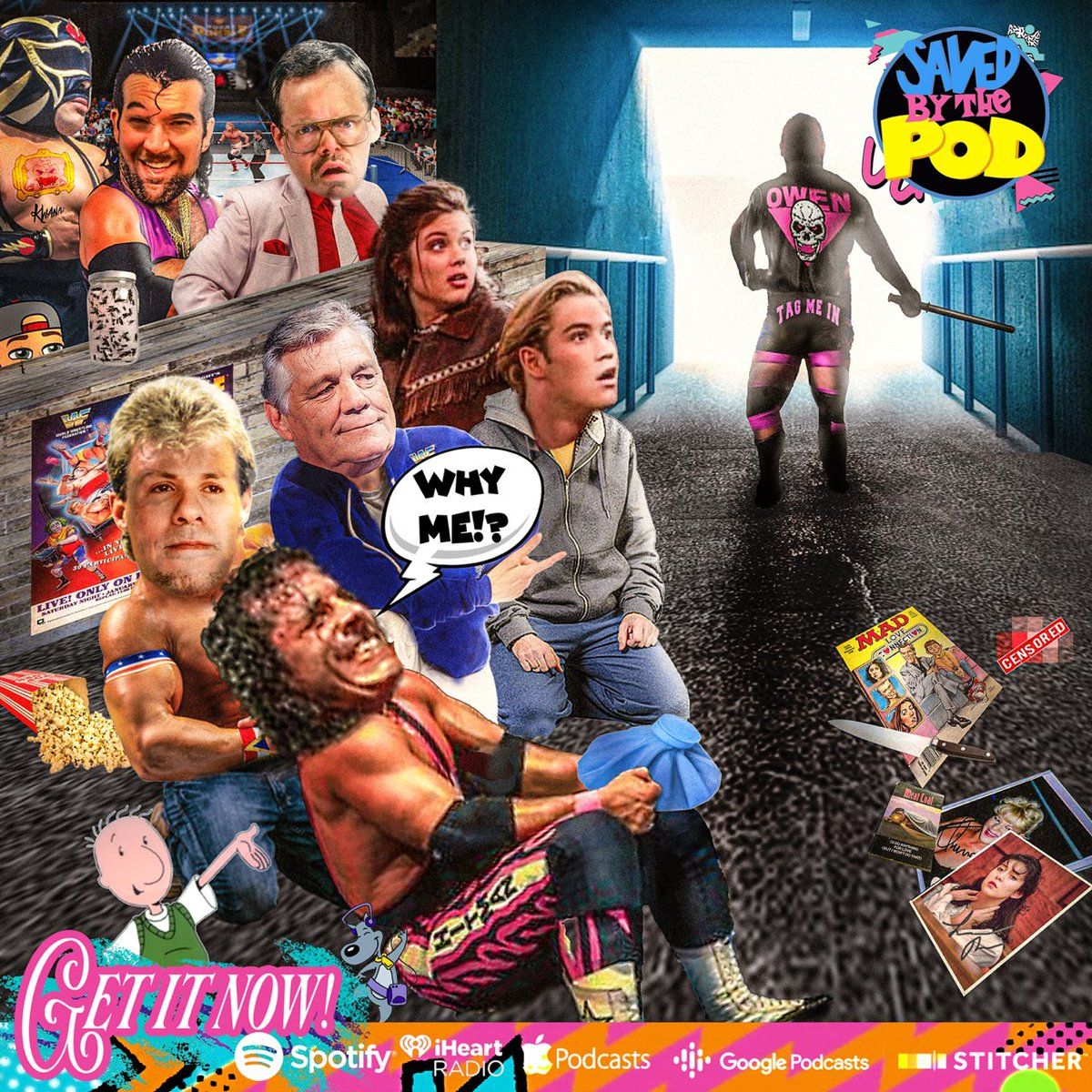 NOW AVAILABLE!  We go back to #January1994!  #Kerrigan is attacked, #SavedbytheBell grows up, #Owen has had it, #Undertaker rises to #Superstar status, & a cluster ends the #RoyalRumble.  Plus, a 🥂💗to #PatPatterson as only WE can do.  🔁 &👂=💰💰!!!  📥 today!  (📸: @JDHoop702)
