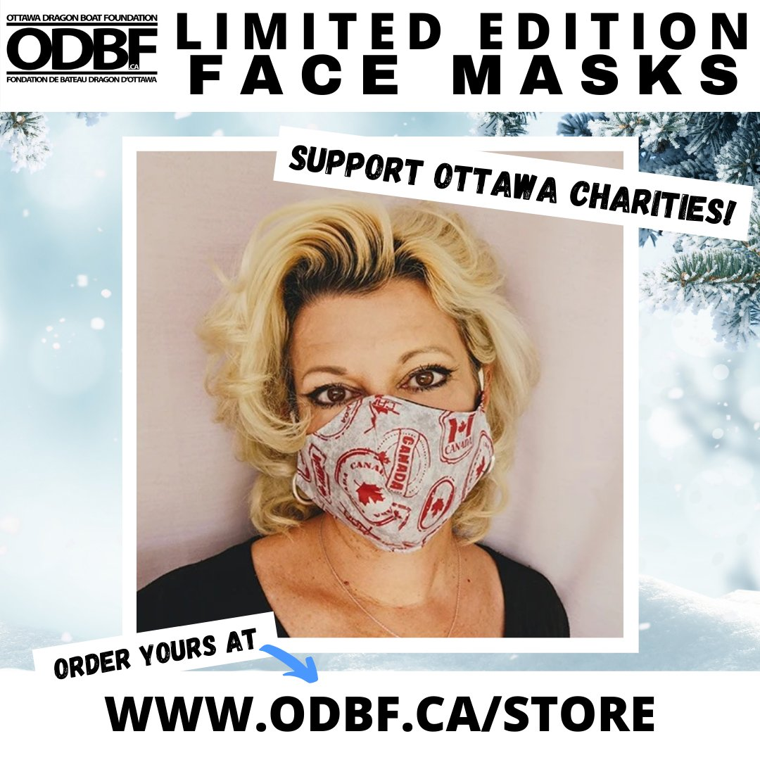 Locally-made ODBF Face Masks are available at ! Get yours today & help your community-a portion of proceeds go towards supporting local charities during the Covid-19 crisis & more. #ODBF #facemask #charity #fundraising #MyOttawa #shoplocal #DoGood #Giving