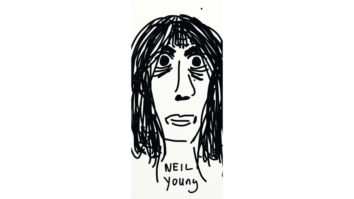 Replying to @macd5007: Neil Young - #art #sketch #drawing #doodle #cartoon #comics #funny #humor #love #relationship #marriage #cool #food #meditate #fitness #healthy #dating #friends #comedy #animation #laughing #smile #cool #life #weird