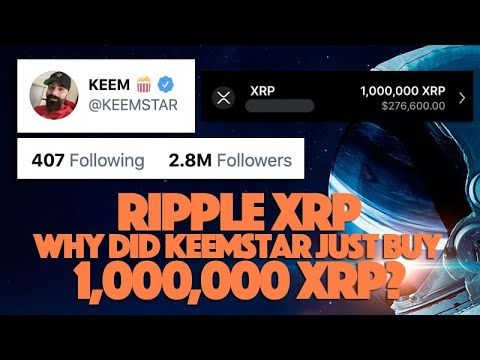 #Ripple #XRP: #Famous Non-#Crypto #Youtuber #KEEM Just #PURCHASED 1M #XRP - What Will The #Affect Be?    #Cryptocurrency #Currency #Keemstar #NonCrypto #Videos #Vlog #YouTube