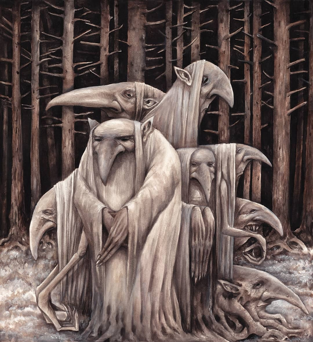 Marc Potts #fantasyart #elders #Fantastico #Dimensions #forests