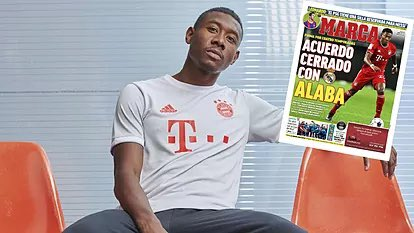 Real Madrid have reached an agreement with David Alaba, who becomes Real Madrid's first signing for next season.  The defender will join the club when his contract with Bayern comes to an end on June 30. He has agreed a 4-year deal with a salary close to EUR 11 mln / year [Marca]