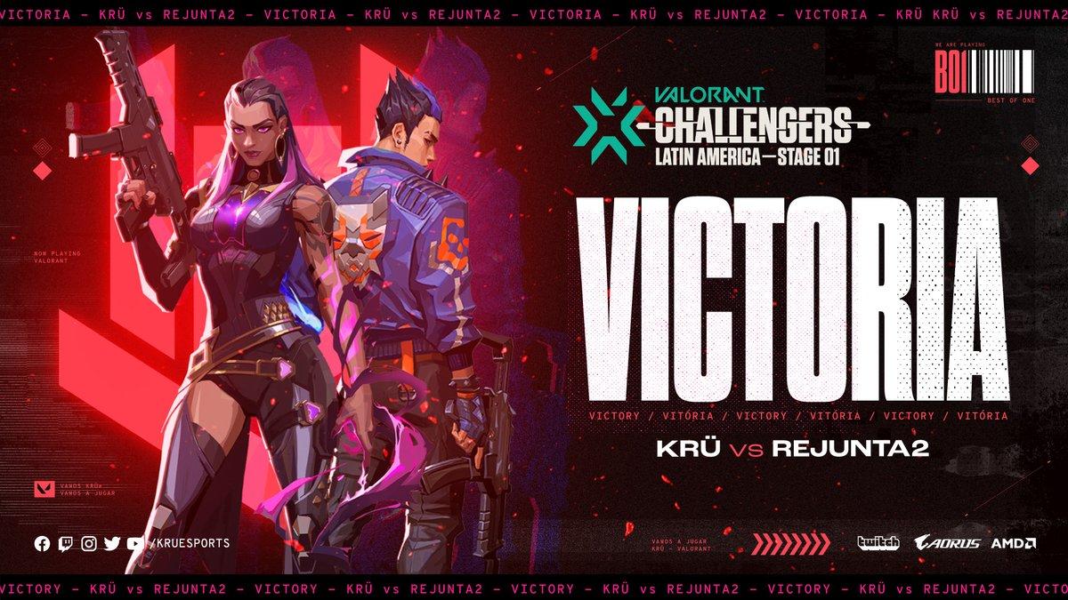 ᵃʰᵒʳᵃ ˢᶦˀ ᵃʰᵒʳᵃ ˢᶦ VICTORIA! VICTORY!🔥✊  Arrancamos con el pie derecho en #ValorantChallengers venciendo a Rejunta2! Gran laburo, team!  We start #ValorantChallengers on the right foot after defeating Rejunta2! Keep it up, lads!  #VamosAJugar 🤟#VALORANT