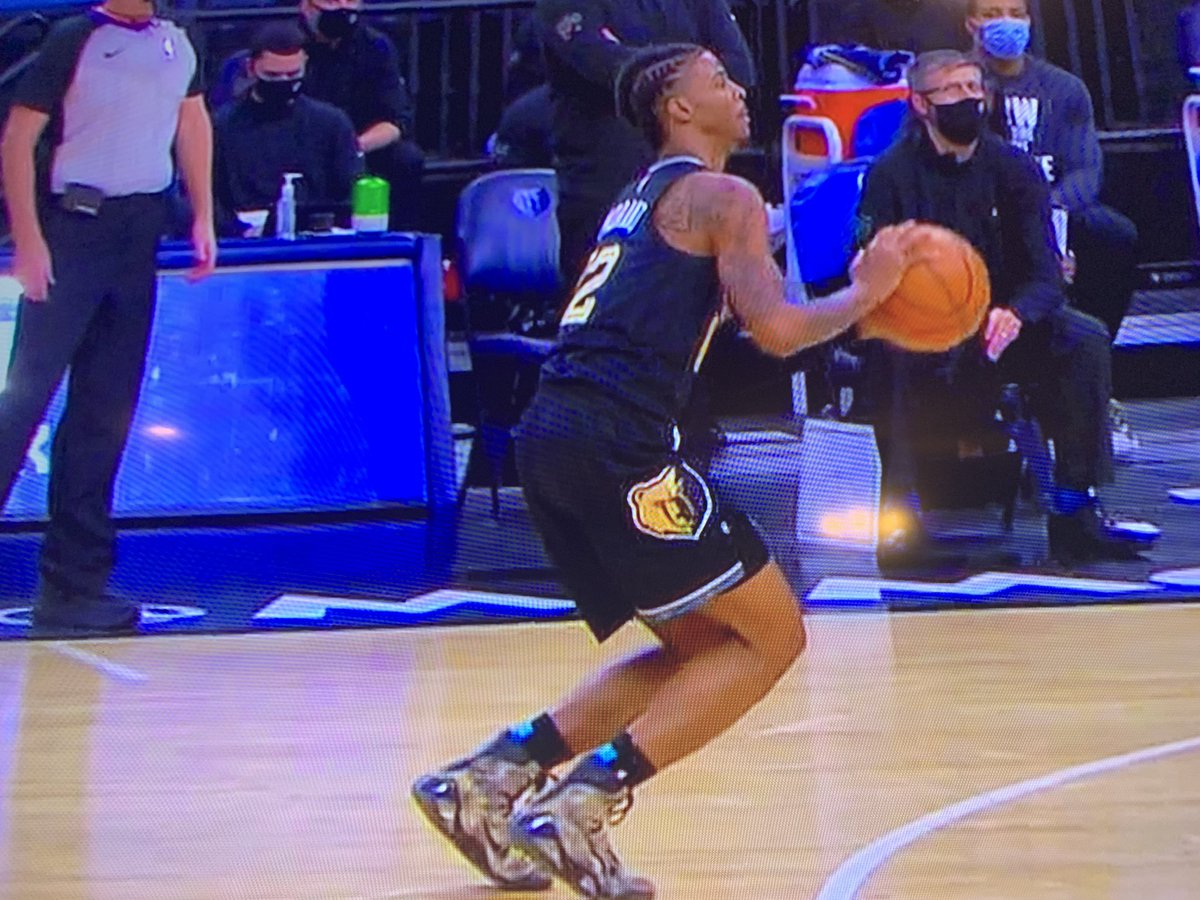 """I have never purchased a jersey.  But When I first saw the New MLK jerseys I said """"I got to get a MLK @JaMorant jersey to go with my Snake Skin Kobe's. I'm just noticing during the post game highlights that he Had them on! And they got the W! #JaTheTruthForThis #GrizzNation https://t.co/iJEzXRvhe7"""