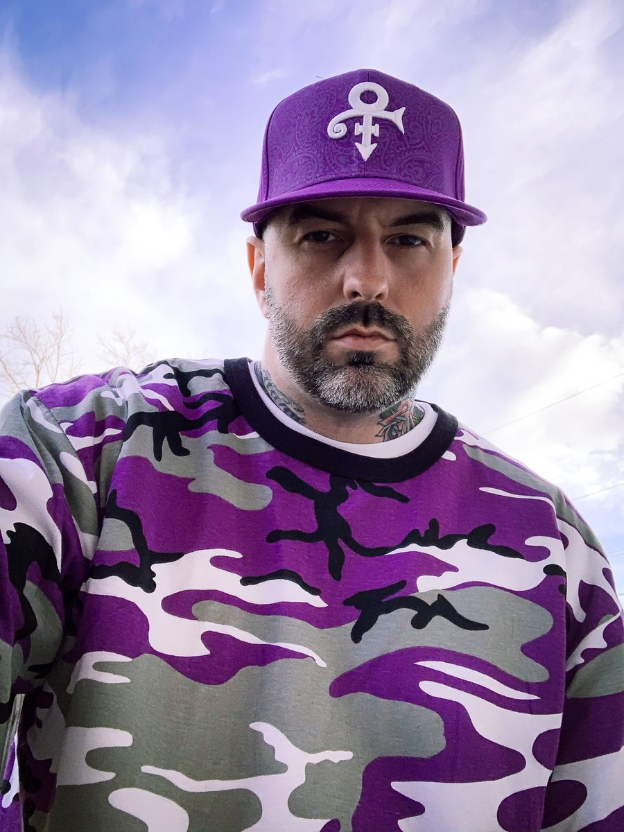 Pay homage to the legends. #Prince #PurpleRain #purple #camo