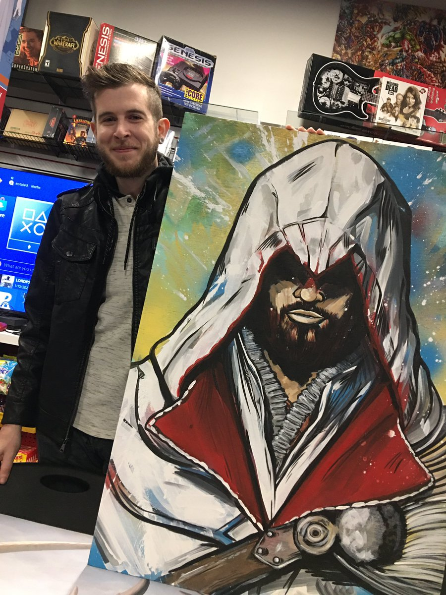 I just sold my #assassinscreed #assassinscreedezio #painting to an #amazing #person #happybirthday