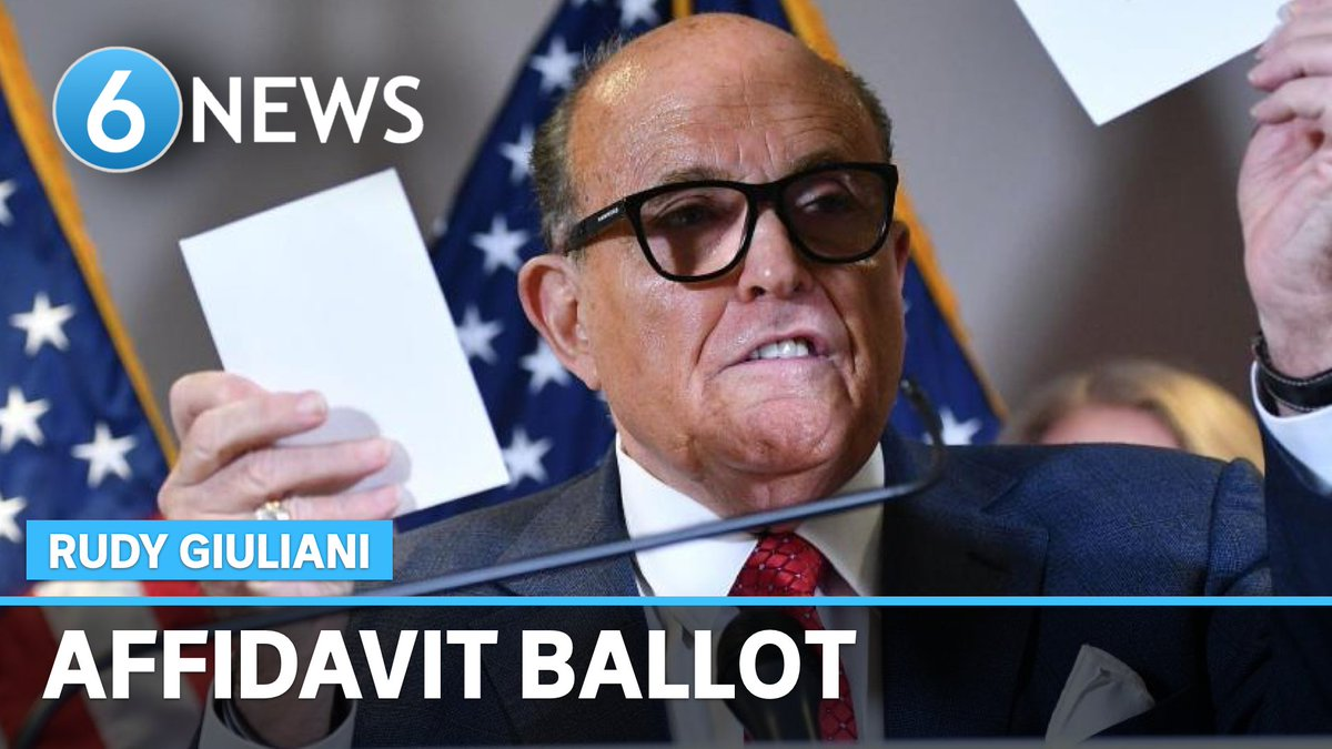 #NEW: An investigation from @CNN has revealed that Rudy Giuliani personally voted in the 2020 Election using an affidavit ballot, a voting method he publicly disparaged when claiming fraud.  MORE:   #6NewsAU #USElection #RudyGiuliani #AffidavitBallot