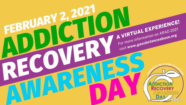 Join the Georgia Recovery Community for Addiction Recovery Awareness Day on 2 February via Zoom and FREE. Please register here: https://t.co/ZTxaixzMX1  #GARecovers #ARAD2021 #gapol https://t.co/blM4X4XQjb